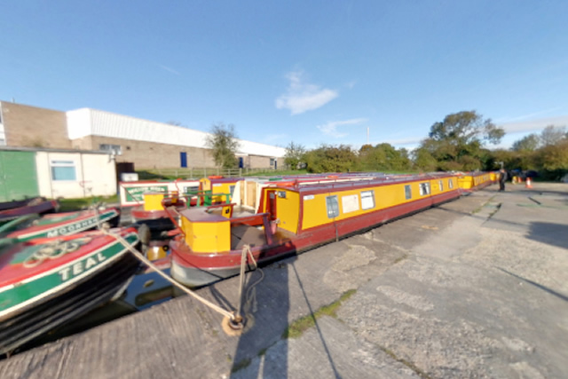 Canal Boats Moored at Union Wharf