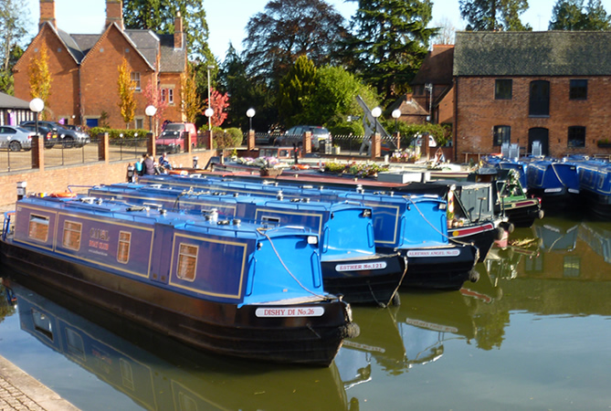 Union Wharf Marina in Market Harborough